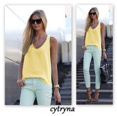 Pure Color Scoop Casual Sleeves Street Chic Vest