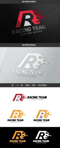 Racing Team Logo Templates **Logo Template Features **---- 100 Scalable Vector Files- Everything is editable- Everything i by Super Pig Shop Go Logo, Team Logo, Logo Design Inspiration, Icon Design, App Design, Company Slogans, Car Logos, Racing Team, Branding