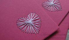 Hand Embroidered Valentine Greeting Card Set by MoonlightStamper