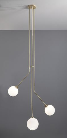 Hanging Lamp 09377 in metal, available in polished chrome, satin chrome, burnished, brass, matte or glossy lacquer in black or white.