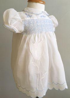 Vintage Baby Dress Vintage Smocked Baby Dress