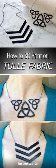 How to 3D Print on Tulle Fabric #jewelry #chevron