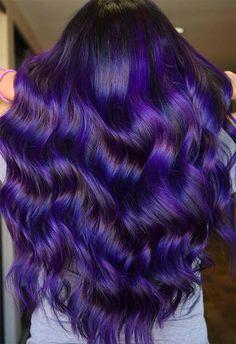 Hair color ideas hair dye tips, dye my hair, dyed hair purple Light Purple Hair, Dyed Hair Purple, Hair Color Purple, Hair Dye Colors, Hair Color For Black Hair, Cool Hair Color, Ombre Hair, Purple Lilac, Violet Hair Colors