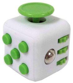 ITSSpinnerTM Fidget Gadget Cube White Green Toy
