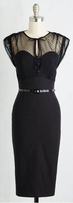 Film Noir Fatale Dress in Black