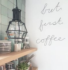 but first coffee Kitchen Inspirations, Scandinavian Kitchen, Kitchen Remodel, Kitchen Remodel Small, Home Decor, Home Deco, Cosy Kitchen, Kitchen Styling, My Kitchen Rules