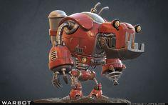 Warbot, Henrique Lopes on ArtStation at https://www.artstation.com/artwork/warbot-0e3cb61c-48ca-456a-a599-5d882f31714b