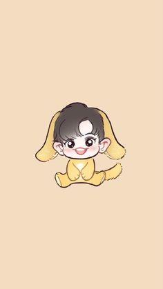 Kpop Exo, Exo Kokobop, Chibi Exo, Chanyeol Cute, Exo Chanyeol, Exo Cartoon, Exo Anime, Exo Lockscreen, Exo Fan Art