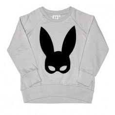Beau Loves Raglan Jumper Rabbit Mask grey