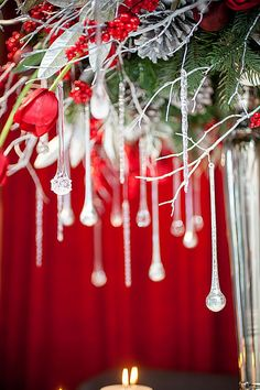Awesome decoration for winter weddings