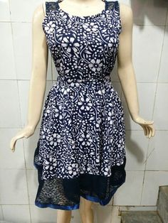 Short Frock for Rs 430 plus shipping Free size fits Xs, S and M, length 35 inches Fabric Crape With Inner and short sleeves Back & Bottom Cotton Net Back Side Zip With Belt Inbox or WhatsApp at +919790509481 to order