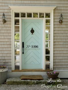 I don't like the numbers but I love the door and the windows around it..although I think I might frost the windows.