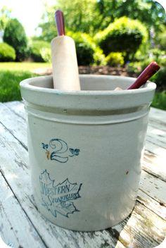 Vintage Western Stoneware Crock 2 Gallon by OrganizedChaosandCo, $28.00