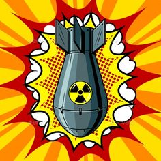 Find Nuclear Atomic Bomb Pop Art Retro stock images in HD and millions of other royalty-free stock photos, illustrations and vectors in the Shutterstock collection. Bomba Nuclear, Art Pop, Desenho Pop Art, Pop Art Illustration, Retro Vector, Art Anime, Atomic Age, Arte Horror, Mellow Yellow