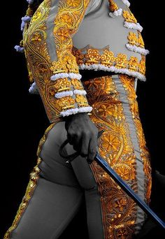 "the bullfighter, el matador, which means ""killer"" Mode Masculine, Matador Costume, Homo, Spanish Culture, Flamenco Dancers, Gold Work, Dressed To Kill, Mellow Yellow, Costume Design"