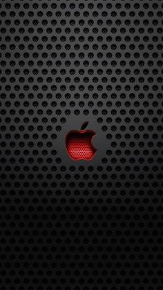 """Apple"" Red and Black Computer"