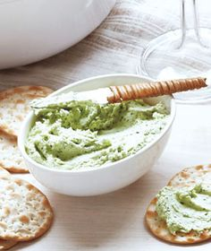 Make-Ahead Goat Cheese Spread | Get the recipe: http://www.realsimple.com/food-recipes/browse-all-recipes/goat-cheese-spread-00000000014572 Best Cheese Spread Recipe, Tapas, Dip Recipes, Appetizer Recipes, Cheese Recipes, Goat Cheese, Thanksgiving Recipes, Holiday Recipes, It's Easy