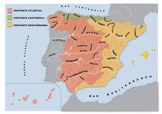 educarex.es - Los ríos de España por cuenca.