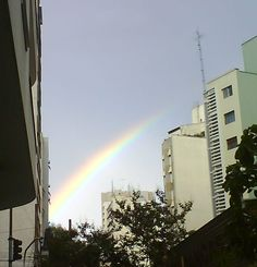 rainbow in São Paulo
