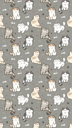 The post Wallpaper 440 appeared first on Fosforlu Dnceler! Wallpaper Gatos, Cat Pattern Wallpaper, Iphone Wallpaper Cat, Tier Wallpaper, Cute Cat Wallpaper, Kawaii Wallpaper, Cute Wallpaper Backgrounds, Animal Wallpaper, Cute Cartoon Wallpapers