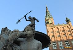 #Fontanna Neptuna #Gdańsk, #Poland