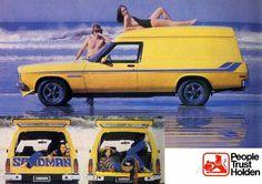 HZ Holden Sandman Classic Trucks, Classic Cars, Holden Monaro, Holden Australia, Aussie Muscle Cars, Australian Cars, Car Brochure, Retro Advertising, Car Posters
