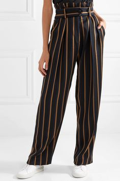 By Malene Birger | Wenyana striped wool-blend straight-leg pants | NET-A-PORTER.COM