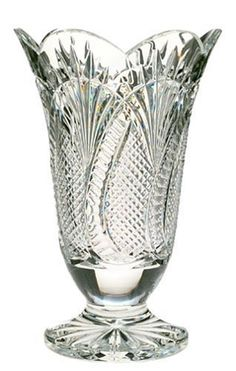 Crystal Vase Thumbprint Amp Diamond Cut Royal Gallery Antique Cut Glass Pinterest Crystal