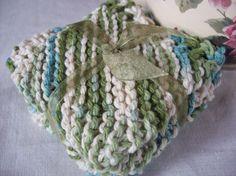 Emerald Isle Twists Dishcloth Set by rustiquecat on Etsy