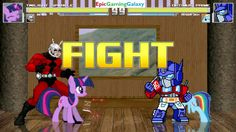 Twilight Sparkle And Ant-Man VS Optimus Prime And Rainbow Dash In A MUGEN Match / Battle / Fight This video showcases Gameplay of Twilight Sparkle From The My Little Pony Friendship Is Magic Series And Ant-Man The Superhero VS Optimus Prime From The Transformers Series And Rainbow Dash In A MUGEN Match / Battle / Fight