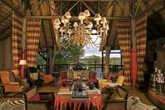 Main lounge at Singita Ebony Lodge  One of my favorite game lodges near Sabi Sands In South Africa