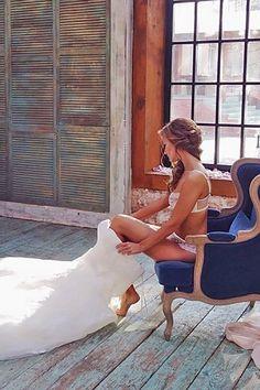Wedding boudoir shots 15 / http://www.deerpearlflowers.com/getting-ready-wedding-photography-ideas/2/