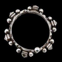 Morocco   Bracelet; silver.    Goumaline. Circa Mid 20th Century
