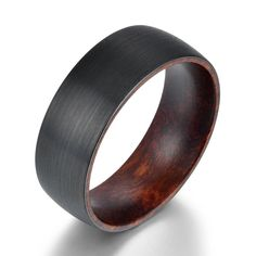 Snake Wood Black Tungsten Mens Wedding Band Comfort Fit Rings   Etsy Mens Wedding Rings Tungsten, Black Tungsten Rings, Black Wedding Rings, Black Rings, Wedding Men, Wedding Bands, Thing 1, Wedding In The Woods, Fit
