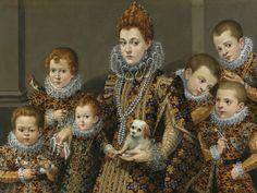 [ F ] Lavinia Fontana - Portrait of Bianca Degli Utili Maselli with Six of Her Children   Flickr - Photo Sharing!