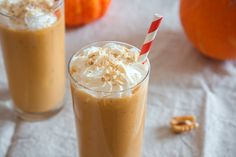 This easy milkshake recipe uses 1 slice of PUMPKIN PIE to make the BEST tasting pumpkin milkshake! This drink only requires 4 simple ingredients, including vanilla ice cream and milk! It's a perfect Fall Thanksgiving Iced Pumpkin Spice Latte, Easy Pumpkin Pie, Canned Pumpkin, Pumpkin Recipes, Shake Recipes, Smoothie Recipes, Smoothies, Free Recipes, Milk Recipes