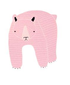 pink bear illustration, www.babasouk.ca