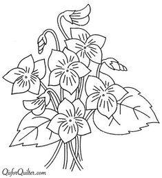 Embroidery Transfer repo Animated Flowers Blue Bells Sunflowers Pansy Water Lily