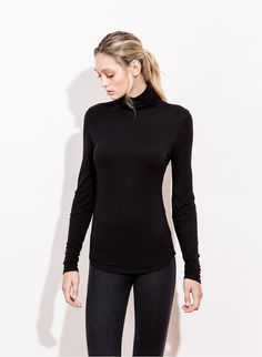 STACKED LONG SLEEVE-BLACK | Kit and Ace