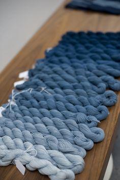 DE KLEUR VAN INDIGO Cloth and Goods varient of indigo dye yarn