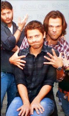 Sam, Dean has a beard crazy and my favourite Angel  Castiel