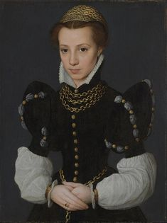 Caterina van Hemessen (1528-1587)  —  Portrait of a Young Lady, 1560 : The Baltimore Museum of Art, Baltimore, Maryland.  USA   (765×1024)