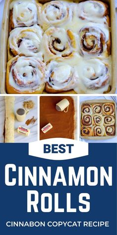 Best copycat Cinnabon cinnamon rolls recipe ever! If you've had the pleasure of tasting the pure deliciousness of Cinnabon cinnamon rolls at the airport or a shopping mall, you're familiar with their awesome goodness. Once you take a bite of these mouth-watering pastries I think you'll agree, this copycat Cinnabon cinnamon rolls recipe really captures the flavor of the name-brand product.