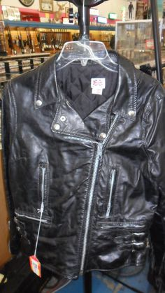 Vintage Leather Biker Jacet by PPIJEWELRY on Etsy