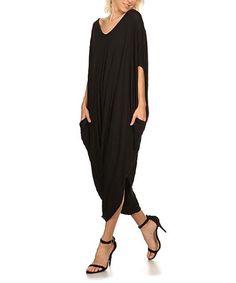 Look what I found on #zulily! Black Harem Jumpsuit - Plus Too #zulilyfinds