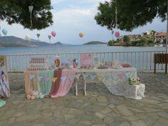 Candy bar-baptism decor-baby girl
