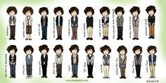 The evolution! Click High-Res to see it bigger :) Please don't steal it, and if you upload it somewhere else at least give a credit link. One Direction Fan Art, One Direction Cartoons, 5sos Outfits, A Moment To Remember, What Makes You Beautiful, 1d And 5sos, Beautiful Drawings, Cartoon Drawings, Harry Styles