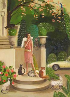 Mademoiselle Mink- Original Oil Painting