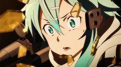Sinon | Gun Gale Online | #GGO | Sword Art Online | #SwordArtOnline | #SAO | #Anime | (gif)