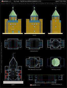 Teatro del Mondo (1979) | Aldo Rossi | Archweb Architecture Tools, Urban Architecture, Aldo Rossi, Autocad, City, Interior Design, Tech Gadgets, Sketchbooks, Theater